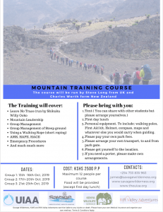 MountainTrainingCourse 1 Rift Valley Adventures Adventurous Trips Overview