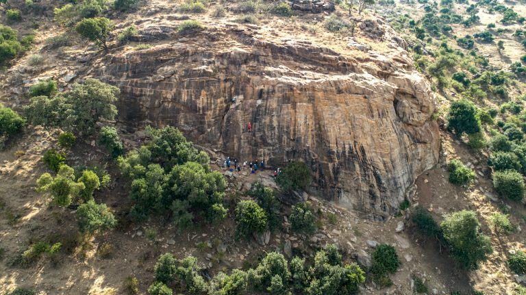 NgareNdarerockclimbing Rift Valley Adventures Chasing the cat and mouse - rock climbing in Kenya...