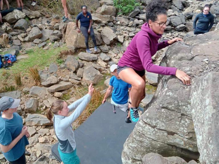 BoulderinginKenya Rift Valley Adventures Rock Climbing Skills Foundation Course